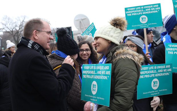 Marchers urged to stand strong, fight for life with 'compassion, hope'